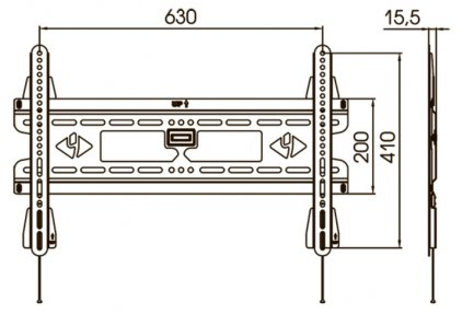 Кронштейн для телевизора Kromax VEGA-30 серый
