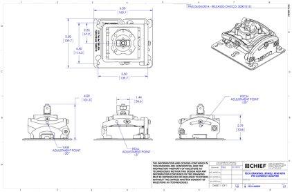 Крепление для проектора Chief RPMEU white (Универсальное, с микрозонными регулировками, до 22 кг)