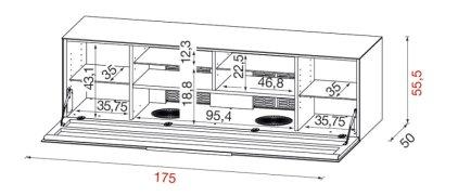 Тумба под ТВ Munari BG 475 BIO (Белый матовый)