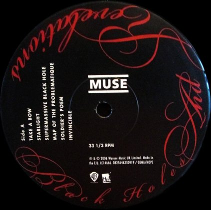 Виниловая пластинка Muse BLACK HOLES AND REVELATIONS (180 Gram)