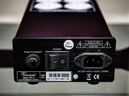 Сетевой фильтр Vincent PF-2 black