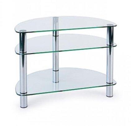 Подставка MD 401 Slim (серебро/прозрачное стекло)