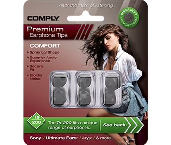 Амбушюры Comply Ts-200 Black Medium (3 пары)