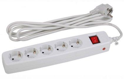 Сетевой фильтр ЭРА SF-5es-4m-W (белый)