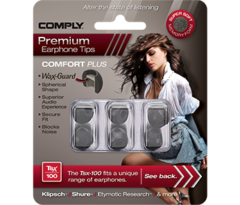 Амбушюры Comply Tsx-100 Black Small (3 пары)