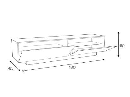 Подставка MD 570.1840 (черная-белая-белая)