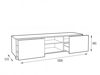 Подставка MD 508.1812 Planima (черный/дымчатое стекло/опора: черная)