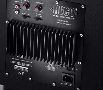 Сабвуфер Heco Music Style Sub 25 A black/black
