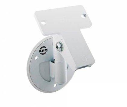Крепление K&M K&M 24161-000-66 поворотное настенное/потолочное крепление для АС весом до 15 кг, 2 вида крепежа в комплекте, белое