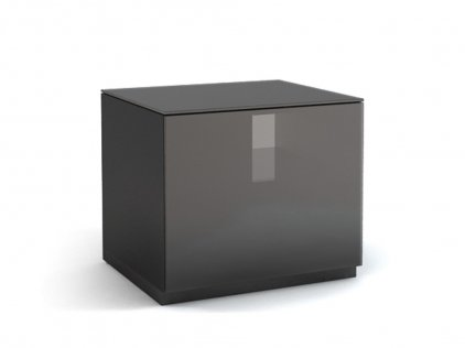 Тумба MD 455.0612 Planima (черный/дымчатое стекло)