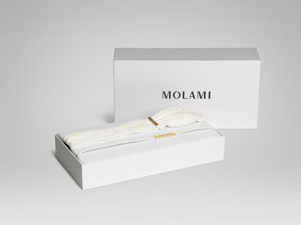 Наушники MOLAMI Twine white & gold