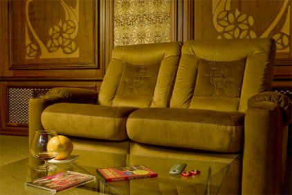 Кресло для домашнего кинотеатра Home Cinema Hall Classic Консоль увеличенная с баром (столешница и электро-привод в комплекте) BIGGAR/40
