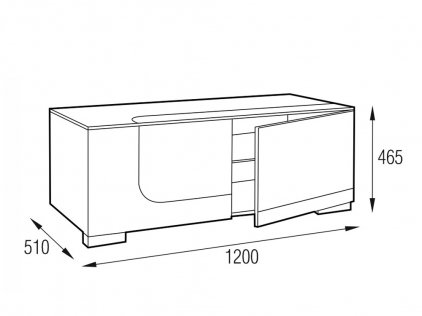 Подставка под телевизор MD 506.1213-B Planima черный/дымчатое стекло