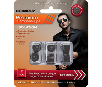 Амбушюры Comply T-100 Black Medium (3 пары)
