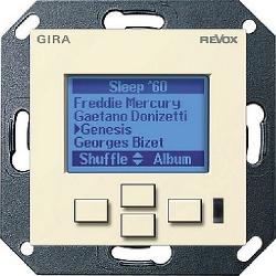 Панели управления мультирум Revox M217 display GIRA System 55 (глянцевый кремовый)