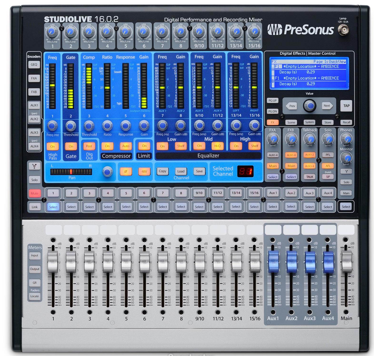 ��������� ������ PreSonus StudioLive 16.0.2