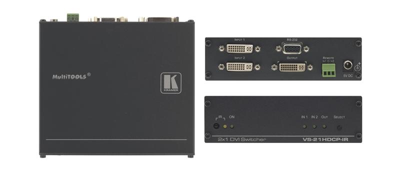 Оборудование для аудио/видео коммутации Kramer VS-21HDCP-IR