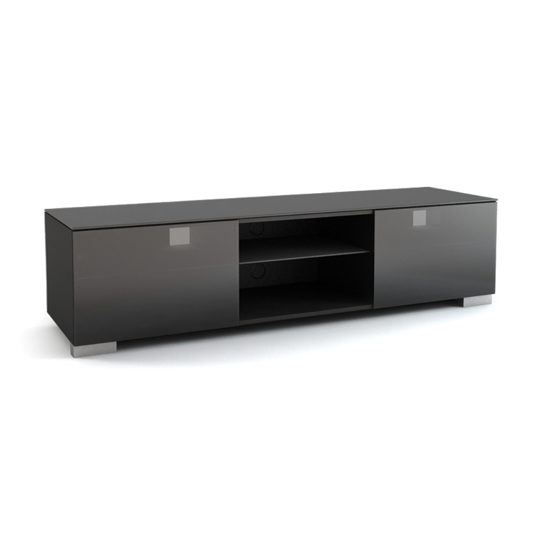 Подставки под телевизоры и Hi-Fi MD 508-1812 Planima черный/дымчатое стекло стойка metaldesign md 552 planima черный дымчатое стекло