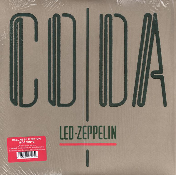 Виниловые пластинки Led Zeppelin CODA (Deluxe Edition/Remastered/180 Gram/Tri-fold sleeve with three pockets) виниловая пластинка led zeppelin led zeppelin iv deluxe edition remastered 180 gram