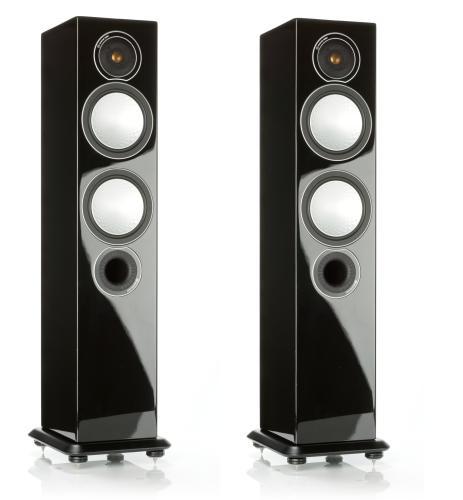 Напольная акустика Monitor Audio Silver 6 high gloss black цена 2016