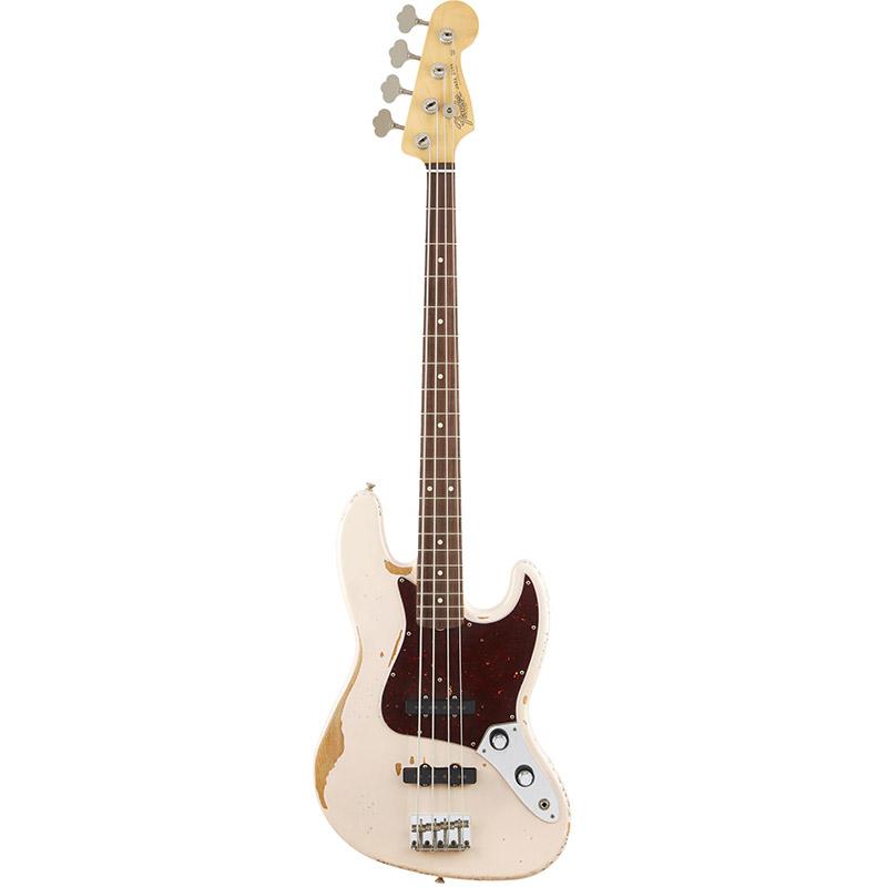 Бас-гитары FENDER Flea Jazz Bass Rosewood Fingerboard Roadworn Shell Pink