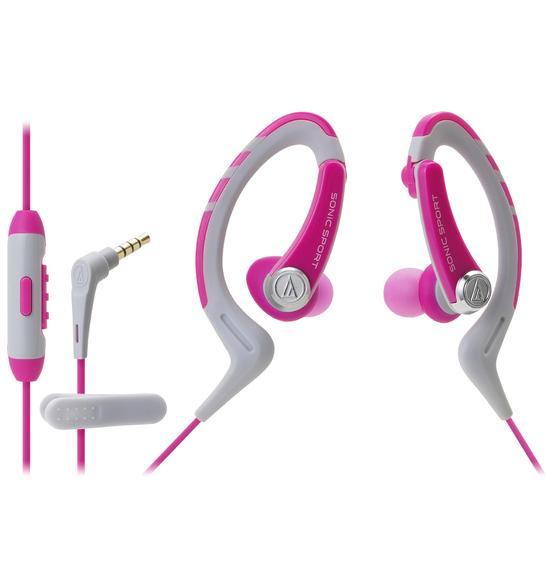 Наушники Audio Technica ATH-SPORT1iS pink внутриканальные наушники audio technica ath sport1is pink