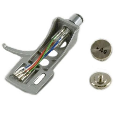 Аксессуары для виниловых проигрывателей Tonar DJ Headshell Silver c грузом (2 и 4 g) держатель для капсул xavax 111116 rondello silver