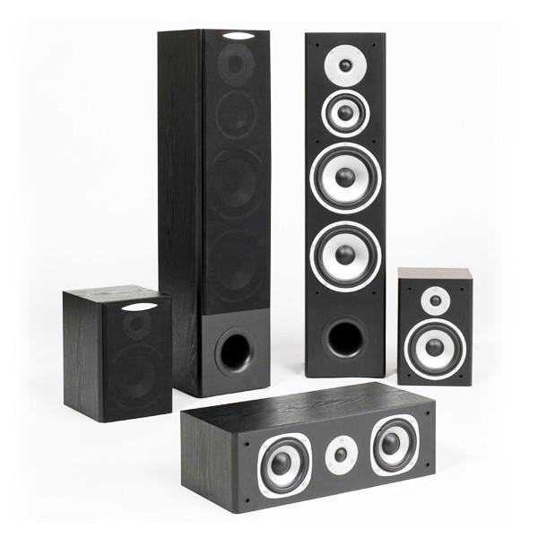 Комплекты акустики Quadral Quintas 5000 II black quadral argentum 410 base black