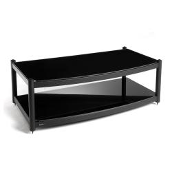 Модульные Atacama Equinox 2 Shelf Base Module AV satin black/piano b стойка для акустики waterfall подставка под акустику shelf stands hurricane black