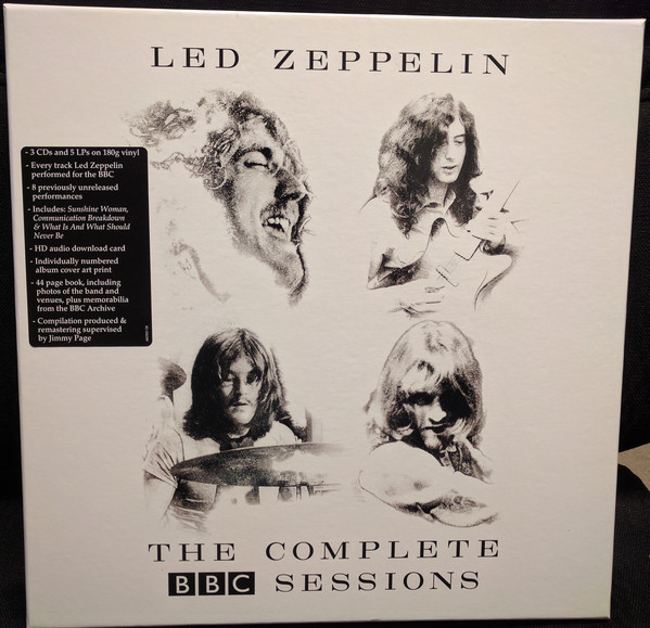 Виниловые пластинки Led Zeppelin THE COMPLETE BBC SESSIONS (5LP+3CD/180 Gram/Box set) led zeppelin the complete story whole lotta love special collectors edition