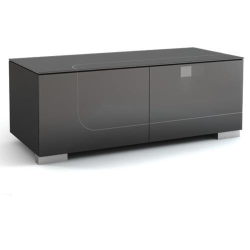 Подставки под телевизоры и Hi-Fi MD 506.1212 Planima (ящик: черный, фасад: дымчатый, о стойка metaldesign md 552 planima черный дымчатое стекло