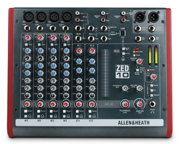 ��������� ������ Allen&Heath ZED10