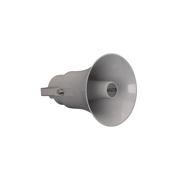 H20-GАкустика для фонового озвучивания<br>Громкоговоритель состоит из горна и драйвера и оборудован переключаемым согласующим трансформатором 100 В. Высокое звуковое давление и широкий угол дисперсии позволяет озвучивать больщие площади. Монтажное крепление позволяет регулировку направленности 180°. Корпус выполнен из высокачественного ABS пластика. Номинальная / музыкальная мощность. В100В режиме: 20/30 Вт.В 8 Ом режиме: 20/30 Вт.Номинальное / максимальное звуковое давление SPL: 105/117 дБ (1Вт/1м).Переключатель мощности в 100 В режиме:...<br>