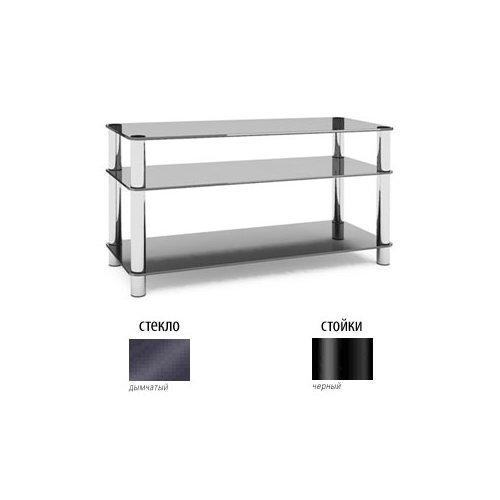 Подставки под телевизоры и Hi-Fi MD Flatform TV 15 черный/дымчатое стекло стойка metaldesign md 552 planima черный дымчатое стекло