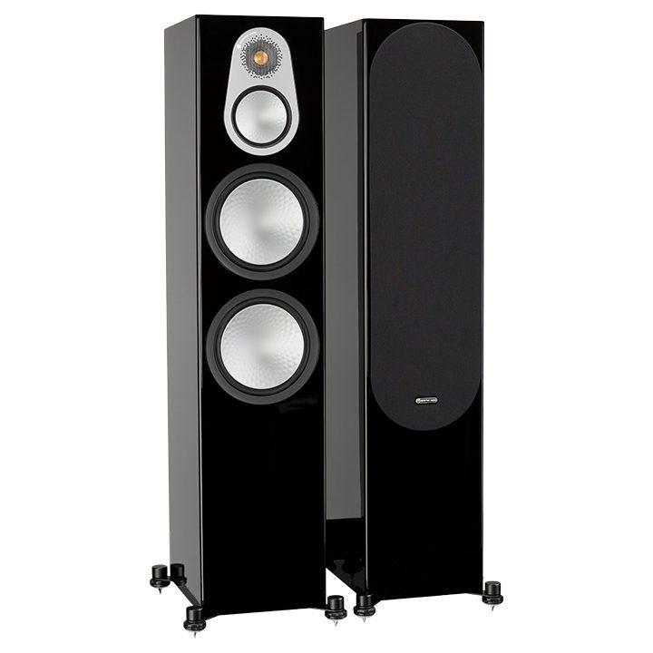 Напольная акустика Monitor Audio Silver 500 high gloss black цена 2016