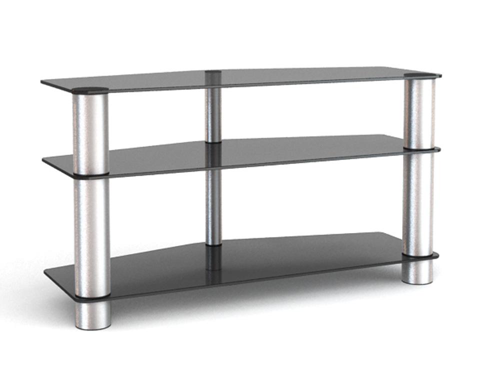 Подставки под телевизоры и Hi-Fi MD 525 алюминий-прозрачное подставки под телевизоры и hi fi md 525 алюминий прозрачное