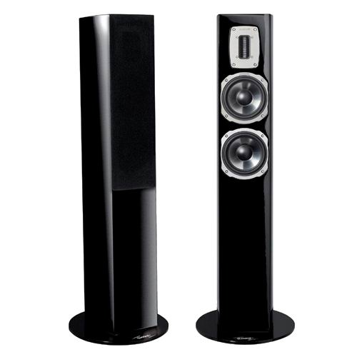 Напольная акустика Quadral Chromium Style 52 black high gloss quadral argentum 410 base black