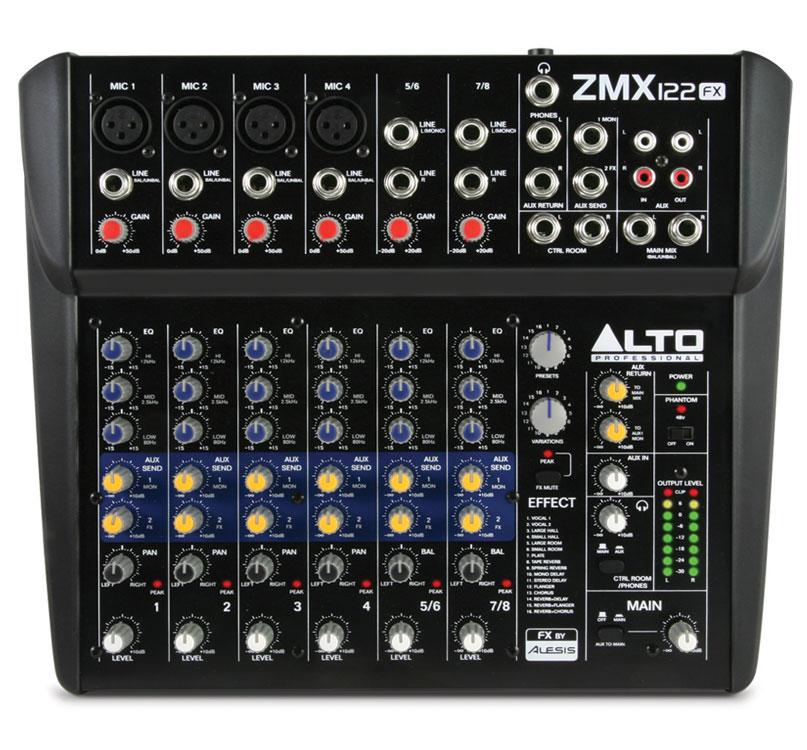 Микшерные пульты Alto ZMX122FX