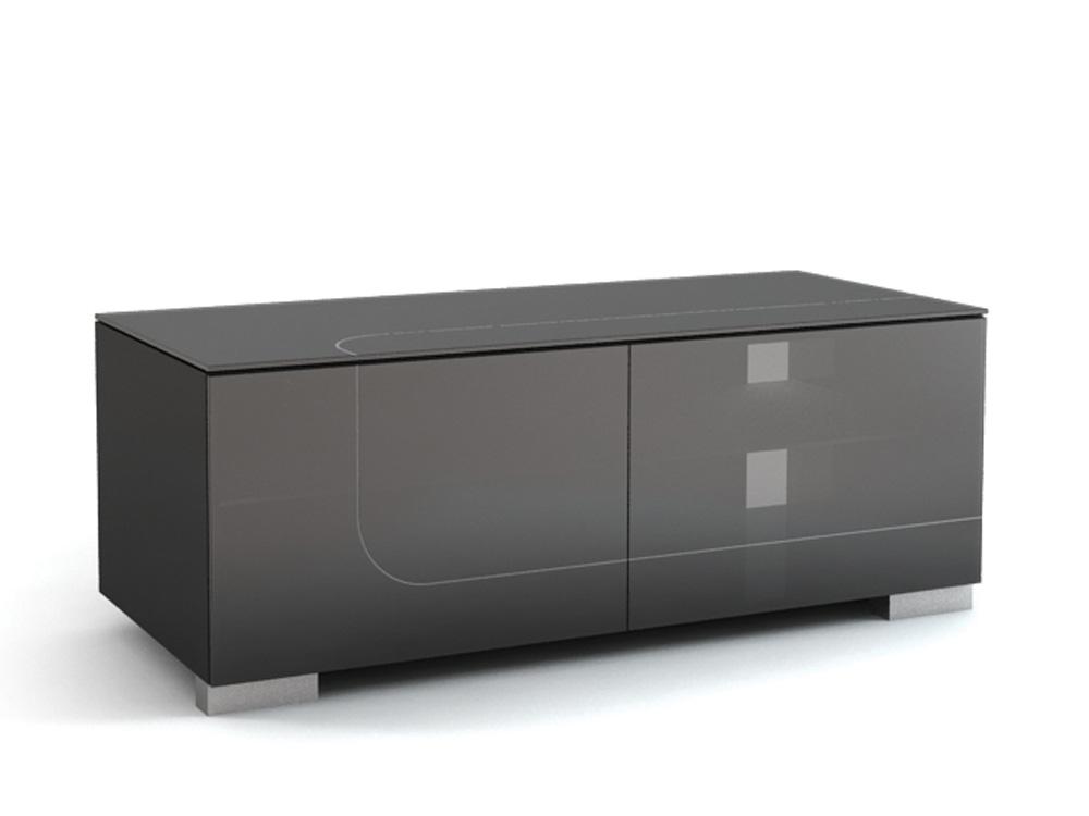 Подставки под телевизоры и Hi-Fi MD 506.1213-B Planima smoke/black стойка metaldesign md 552 planima черный дымчатое стекло