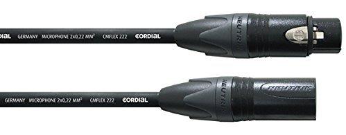 Кабели межблочные аудио Cordial CIM 5 FM XLR female/XLR male 5.0 м черный кабели межблочные аудио cordial cim 1 fm