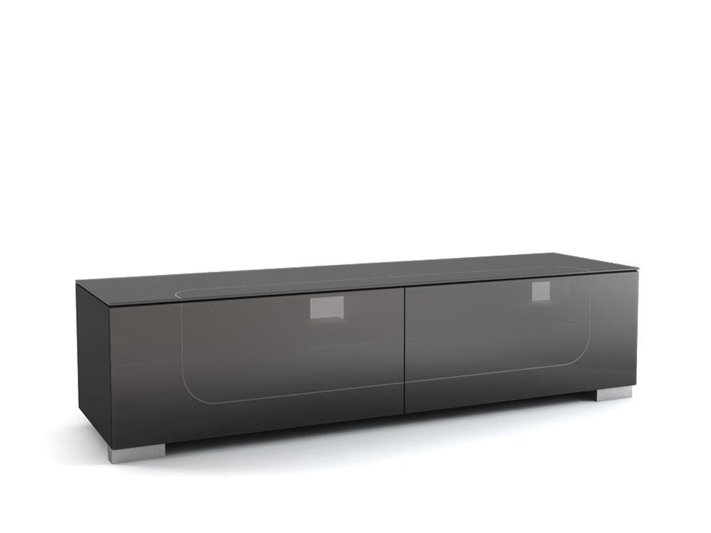 Подставки под телевизоры и Hi-Fi MD 509.1812-B Planima черный/дымчатое стекло стойка metaldesign md 552 planima черный дымчатое стекло