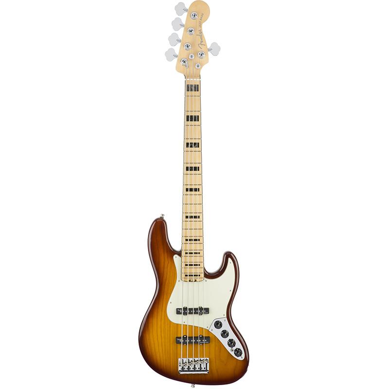 Бас-гитары FENDER American Elite Jazz Bass V Ash Maple Fingerboard Tobacco Sunburst
