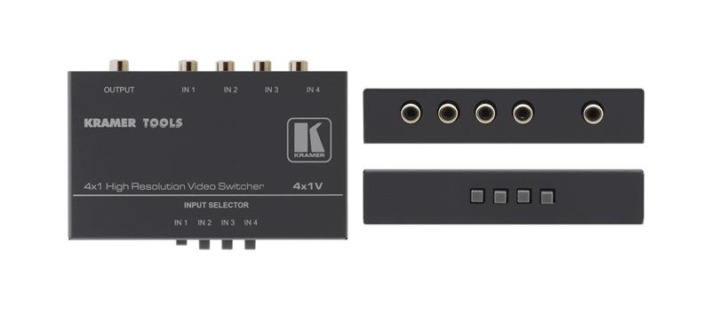 Оборудование для аудио/видео коммутации Kramer 4x1V