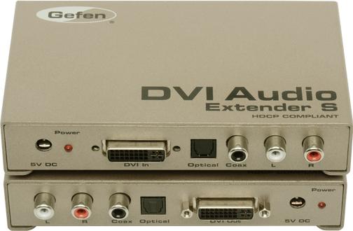 Мультирум контроллеры и усилители Gefen EXT-DVI-AUDIO-CAT5