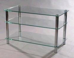 Подставки под телевизоры и Hi-Fi MD 507 Plazma (серебро/прозрачное стекло) подставки под телевизоры и hi fi md 525 алюминий прозрачное