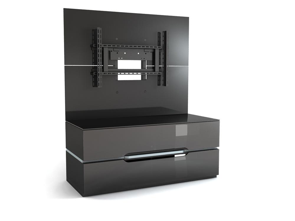 Подставки под телевизоры и Hi-Fi MD 556.1220 Planima черный/дымчатое стекло стойка metaldesign md 552 planima черный дымчатое стекло