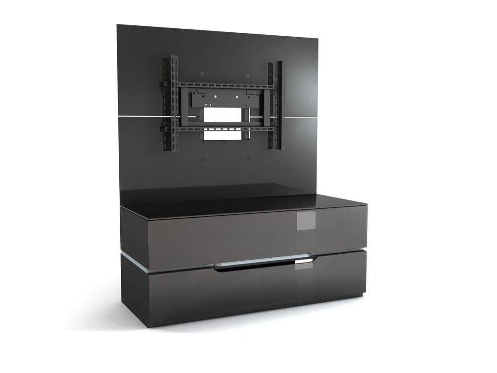 Подставки под телевизоры и Hi-Fi MD 556.1223 Planima черный/дымчатое стекло стойка metaldesign md 552 planima черный дымчатое стекло