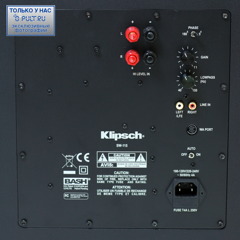 klipsch sub 8 hookup Klipsch r-10b review: anyone in order to adjust the volume of the subwoofer you have to manually adjust the dial on the back of the sub features & setup the.