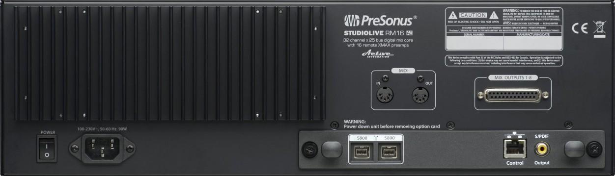��������� ������ PreSonus StudioLive RM16AI