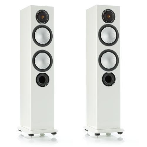 Напольная акустика Monitor Audio Silver 6 high gloss white цена 2016